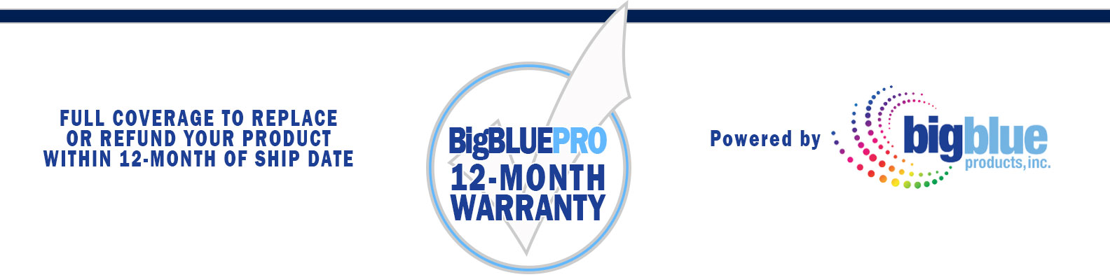 Big Blue Products Warranty Policy Information